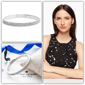Kate Spade Crystal Pavé Row Hinged Bangle Bracelet